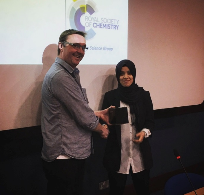 Most Promising Science Student: 'Most Valued Student Talk' Award